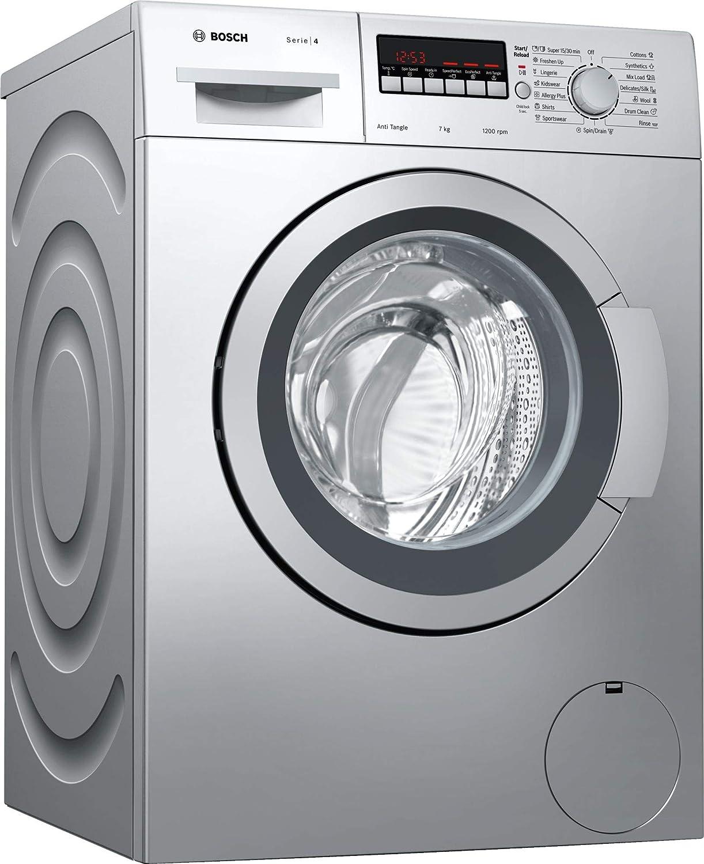 Bosch 7 kg Fully-Automatic Front Loading Washing Machine (WAK2426SIN, Silver, Inbuilt Heater)