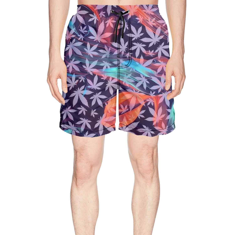 Novelty Cannabis Flower Pot Loose Men Beach Shorts