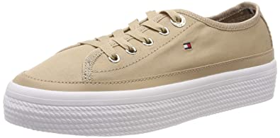 835e67bdaca1 Image Unavailable. Image not available for. Color  Tommy Hilfiger Women s  Corporate Flatform Sneaker Trainers ...