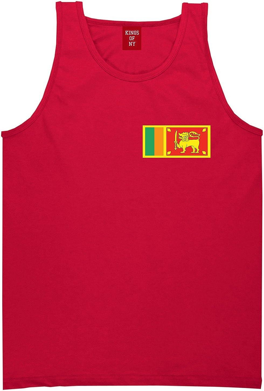 Sri Lanka Flag Country Chest Tank Top Shirt