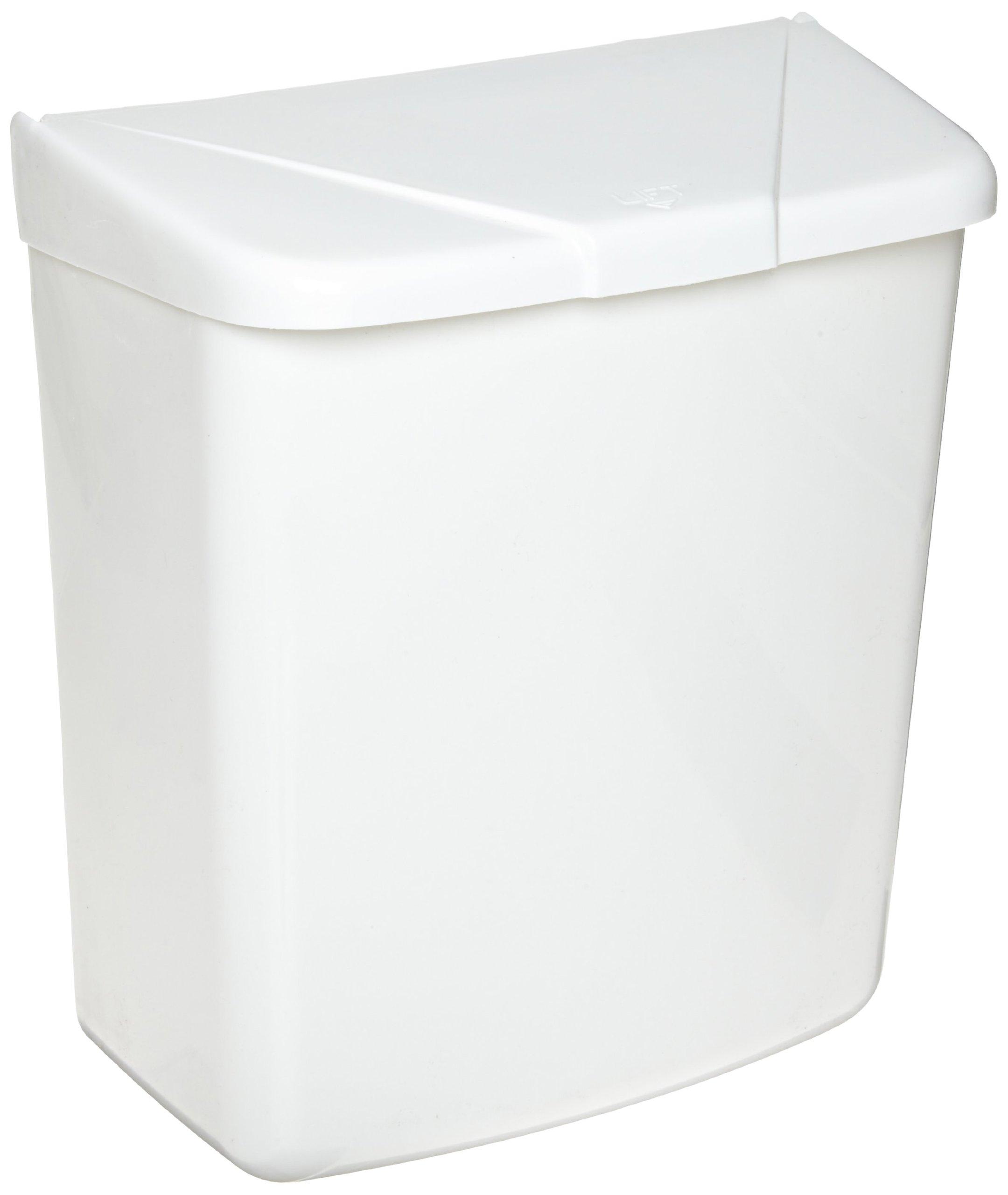 Hospeco Feminine Hygiene Receptacle, White ABS Plastic, 250-201W by Hospeco (Image #2)