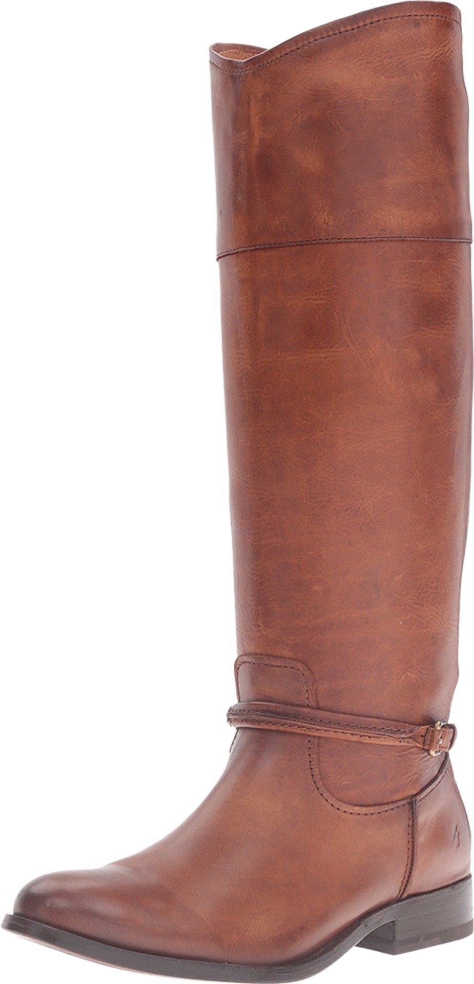 FRYE Women's Melissa Seam Tall Riding Boot, Cognac, 7 M US