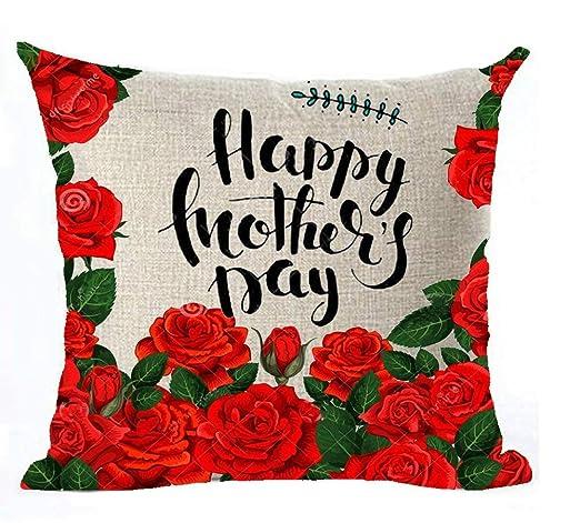 Bgejkos Feliz Día de la Madre Gran Mujer mamá Algodón Lino ...