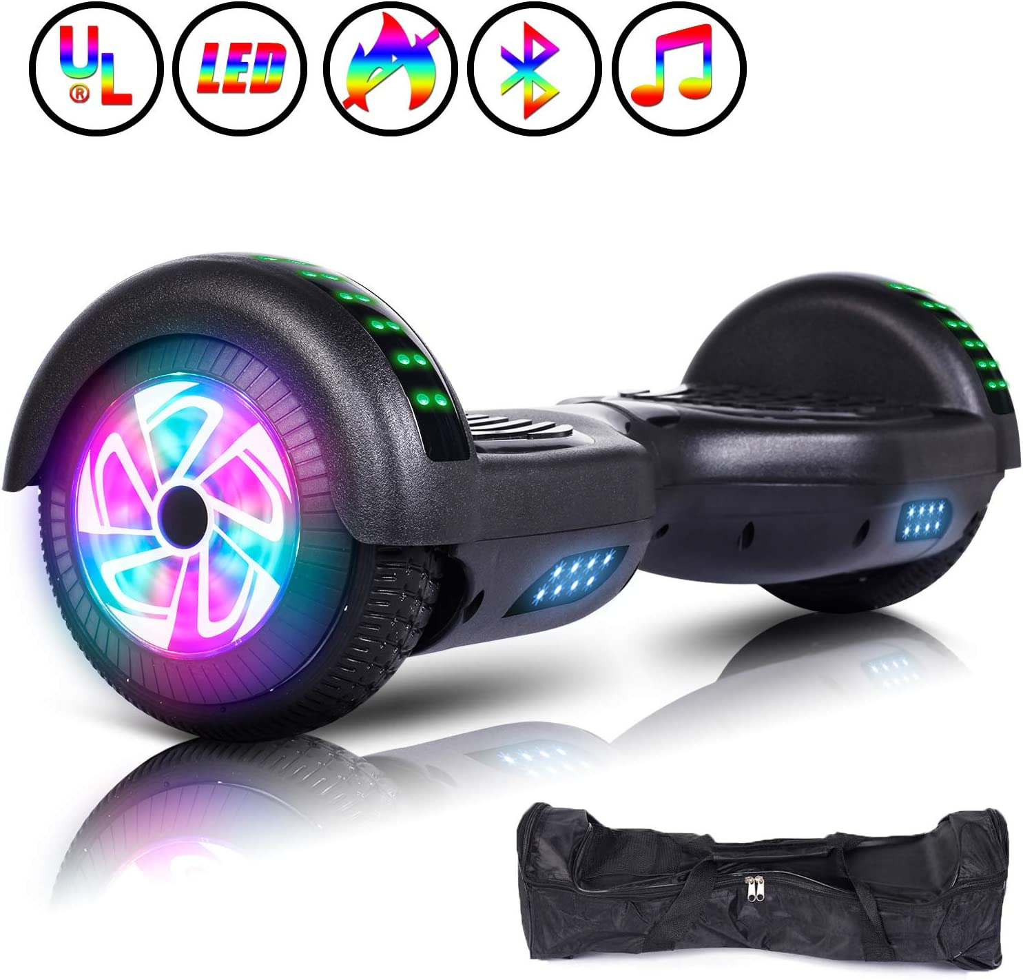 "6.5/""Smart  Electric Self Balancing Scooter hoverboard 2Wheels UL2272-approved#US"