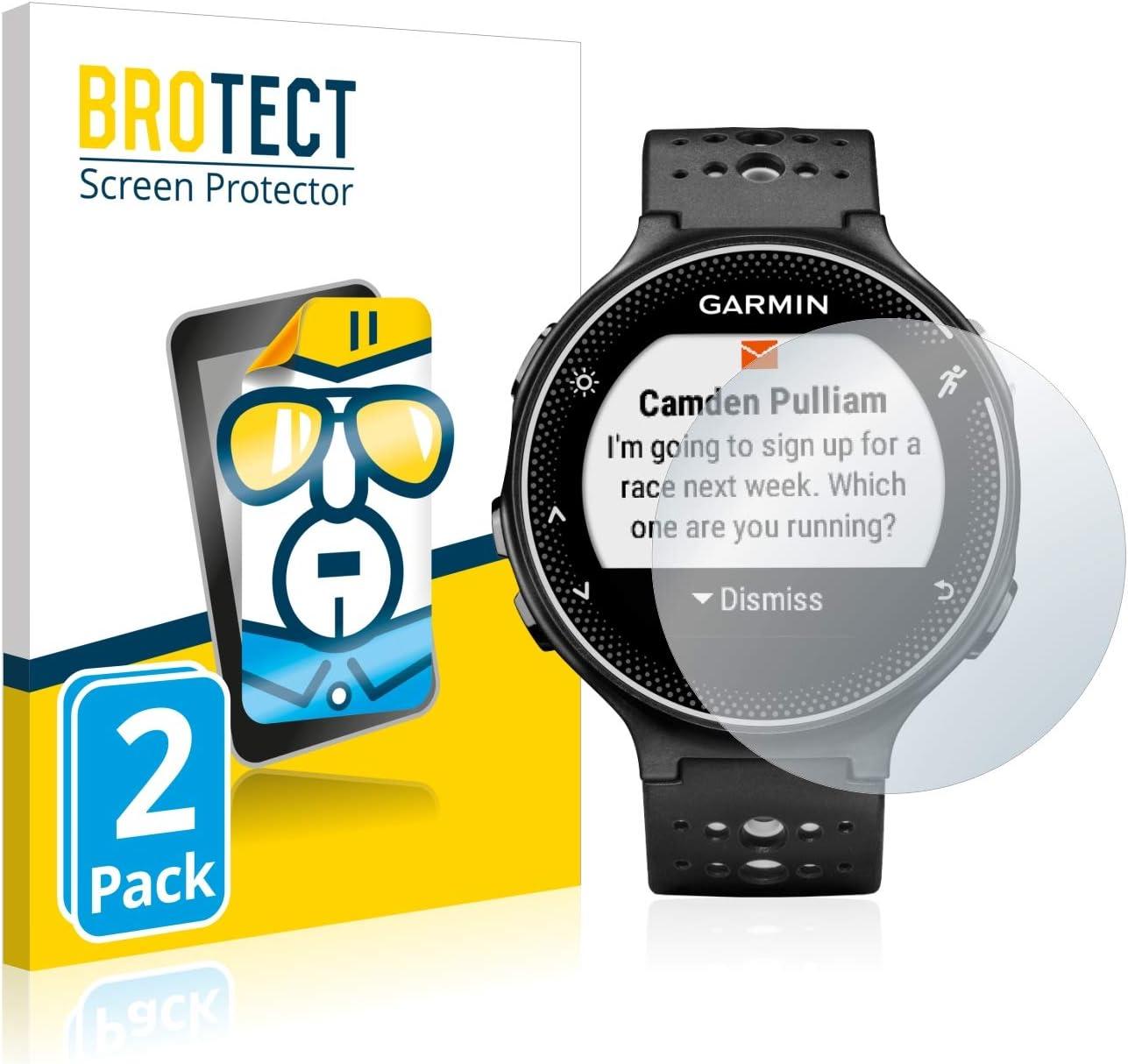 2 St/ück klare Displayschutz-Folie BROTECT Schutzfolie kompatibel mit Garmin Forerunner 230