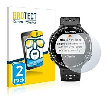 BROTECT Protector Pantalla Compatible con Garmin Forerunner 230 (2 Unidades) - Transparente