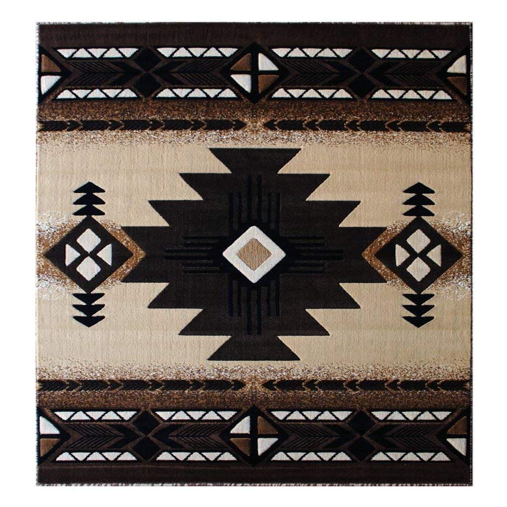 Southwest Native American Door Mat Area Rug Berber Design #C318(2ft.X3ft.4in.) Persian Weavers