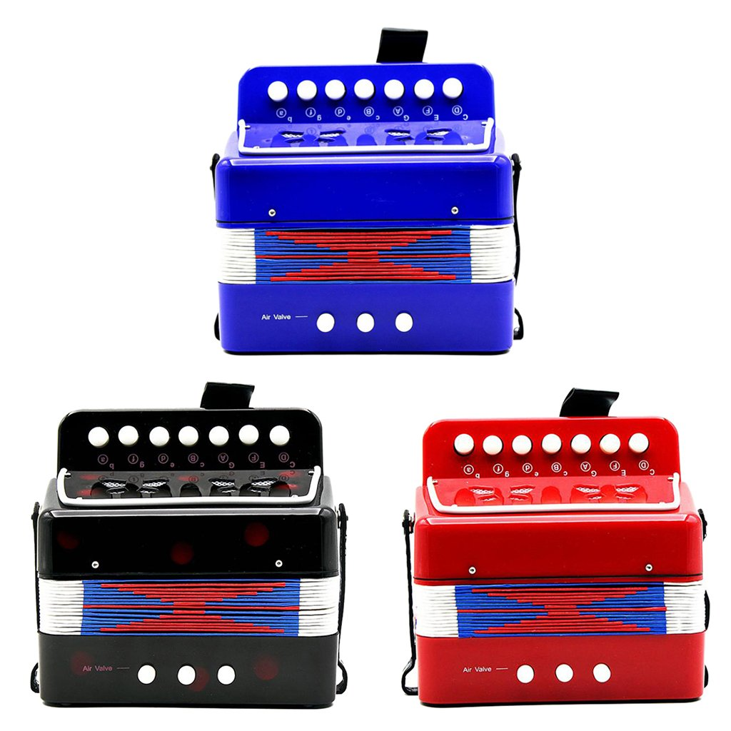 Almencla Kids Percussion Accordion Musical Toy Children Musical Instrument Blue by Almencla (Image #10)