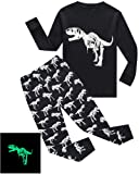 Amazon Price History for:ladato Boys Pajamas Dinosaur-Glow-In-The-Dark Toddler Clothes Kids PJS Sleepwear Shirts