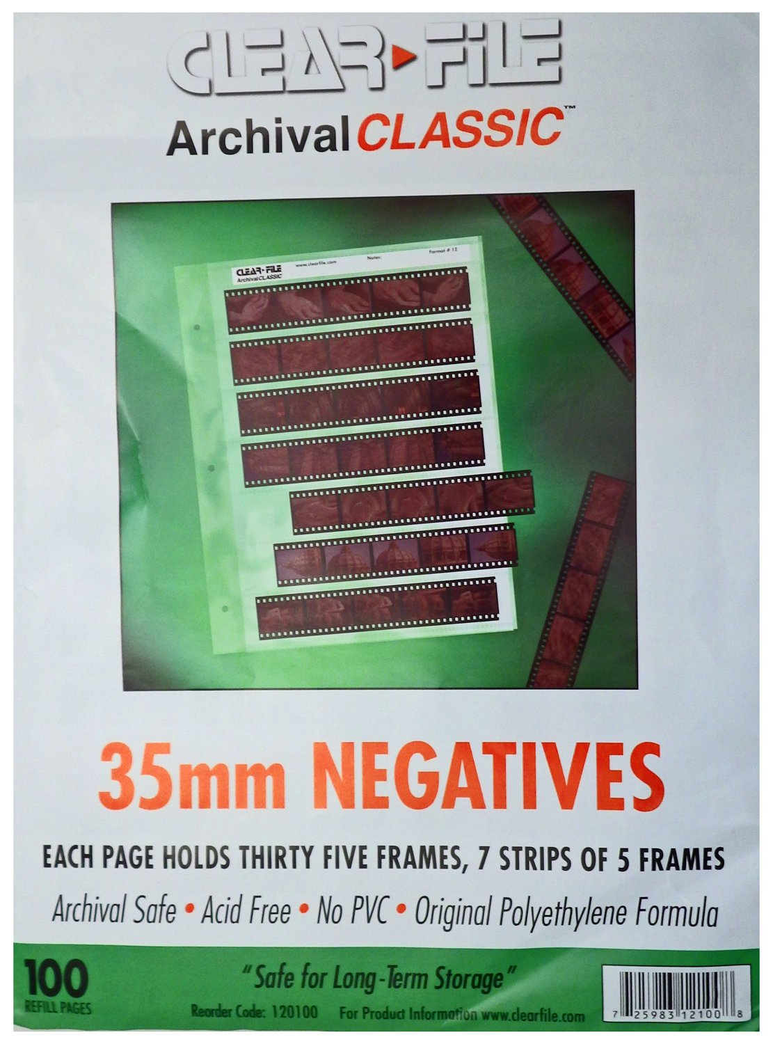 ClearFile Archival Classic ~ 35mm Negative Pages, 100 Pack by Clear File (Image #1)