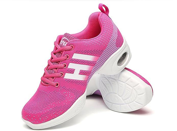 Damen Athletische Turnschuhe Bequeme Modernen Leichte Mesh Sneakers Atmungsaktiv Jazz Dance Schuhe Weiß 37 VECJUNIA bvIJ8n6YP