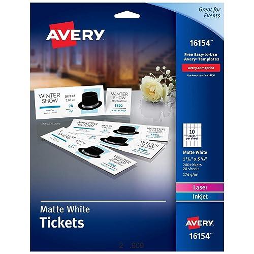 ticket template 8 per sheet  amazon com