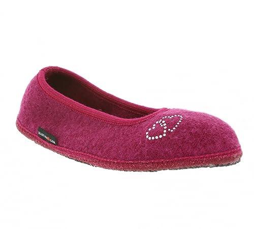 Haflinger Slipper Mein Herz de las mujeres Mis zapatillas rosas 623316 0 34: Amazon.es: Zapatos y complementos