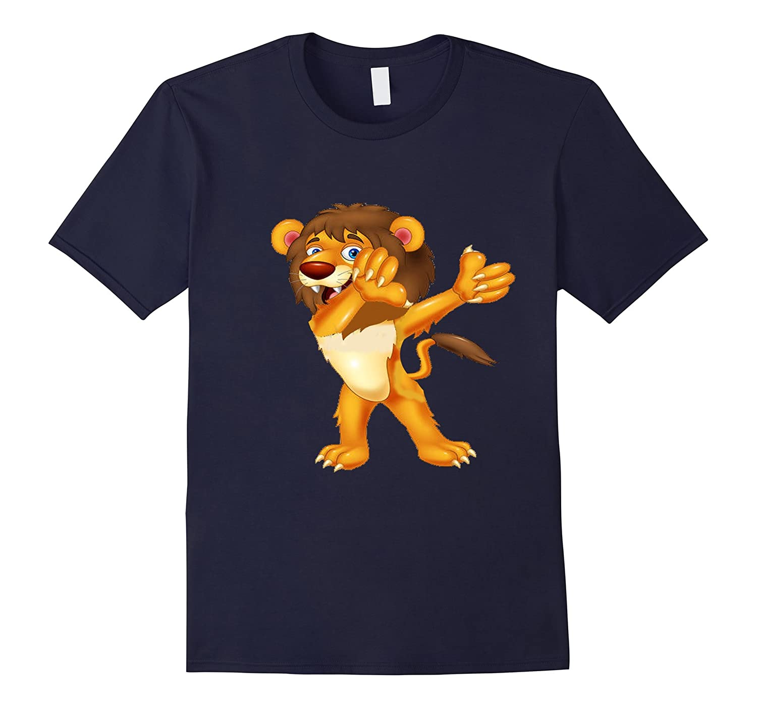 Daddy Lion Dab Shirt Dabbing Lion T Shirt-RT