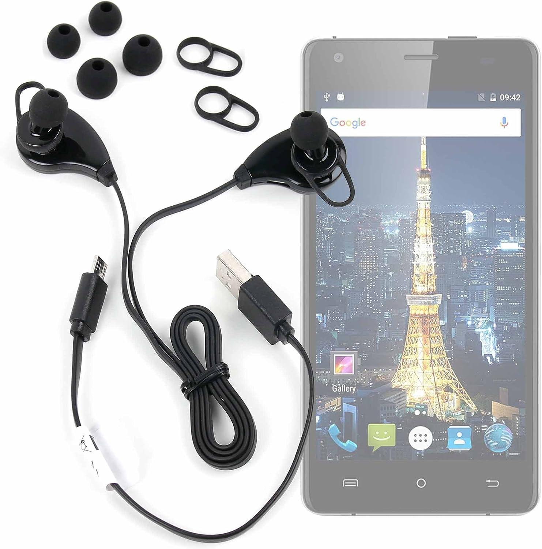 DURAGADGET Auriculares inalámbricos en Color Negro para Smartphone Cubot King Kong/Cubot Echo/Oukitel Mix 2: Amazon.es: Electrónica