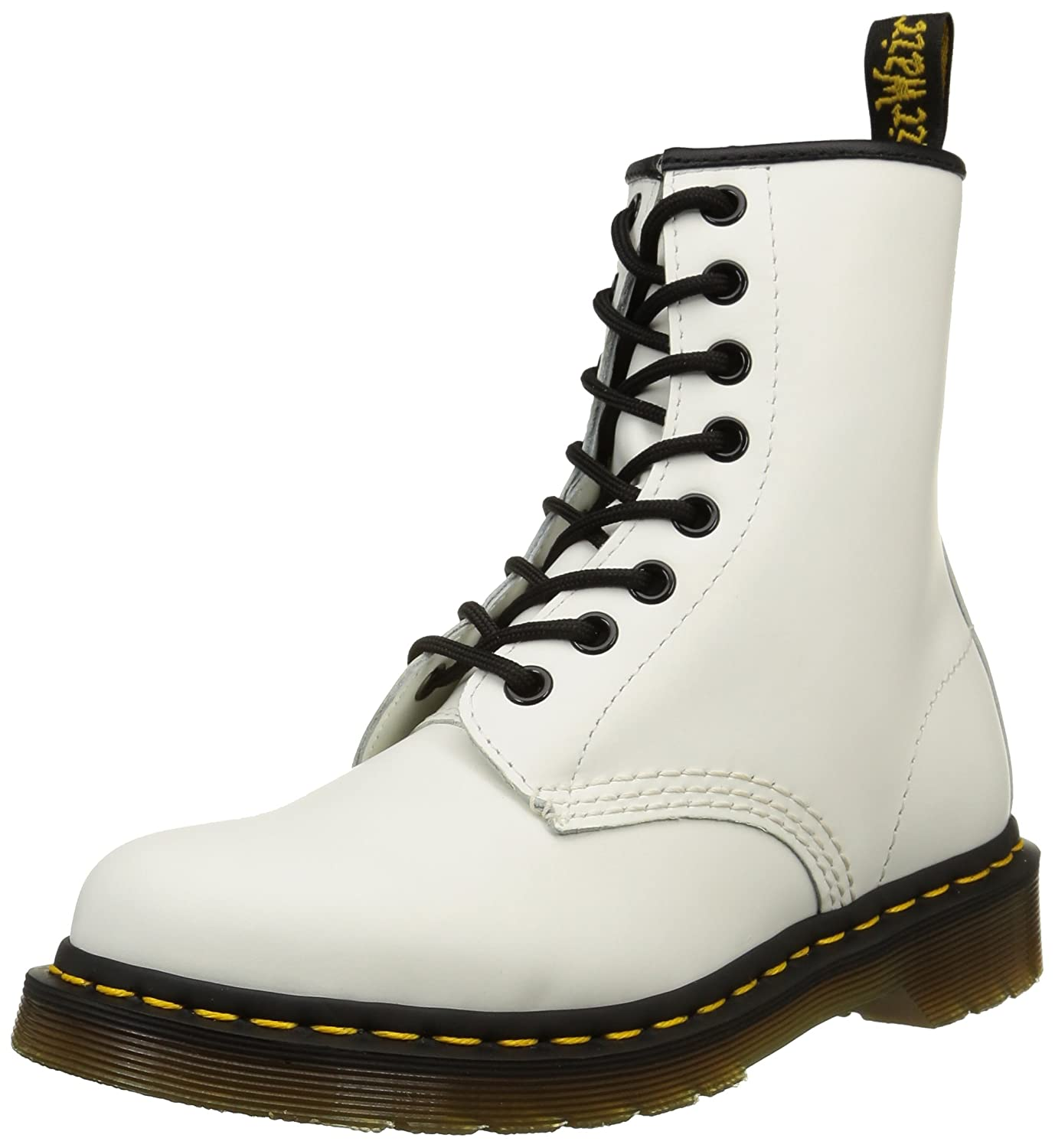 Smooth 59 Last White Dr. Martens Men's 1460 Combat Boot