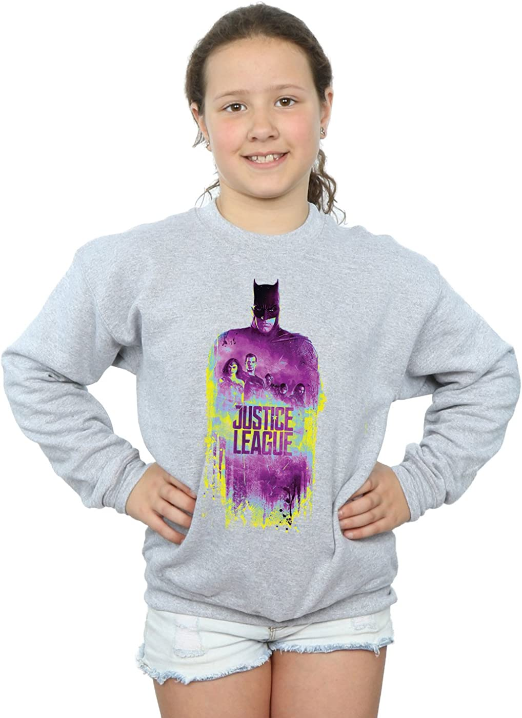 DC Comics Girls Justice League Movie Team Brushed Sweatshirt