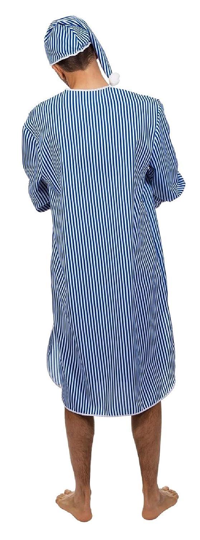 73bde7e44f W5367-50 blau-weiß Herren Nachthemd Schlafwandler Kostüm mit Mütze Gr.50:  Amazon.de: Spielzeug