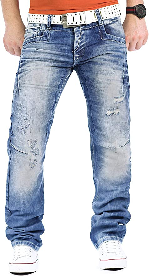 Cipo & Baxx Hombre Jeans Mens Pants Tiempo Libre de Pantalones Club Wear Designer Style Top