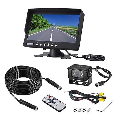 Backup Camera System >> Amazon Com Heavy Duty Vehicle Truck Bus Backup Camera System