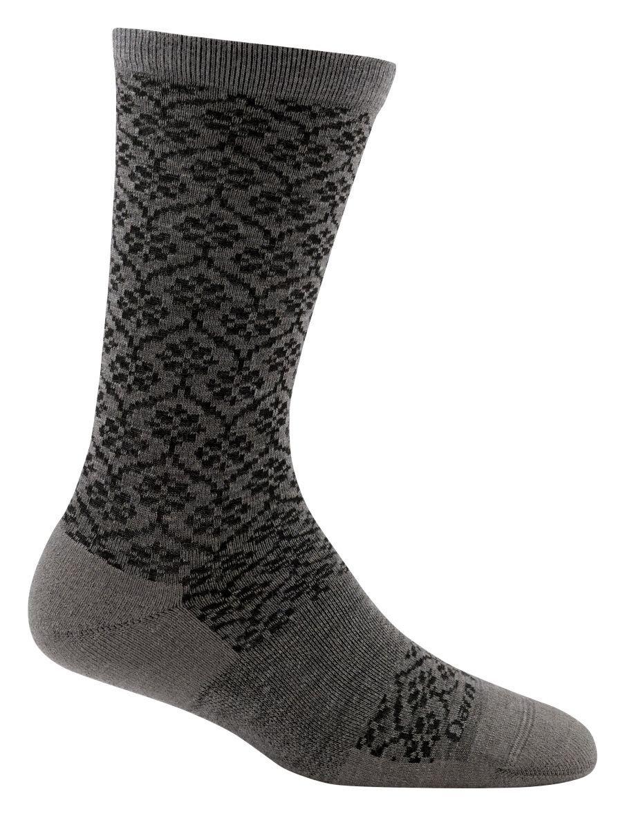 Darn Tough Trellis Light Cushion Socks - Women's Taupe Small