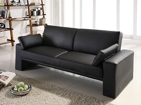 Ella Home Sofa ~ Ella cube black faux leather futon sofa bed cushions back in