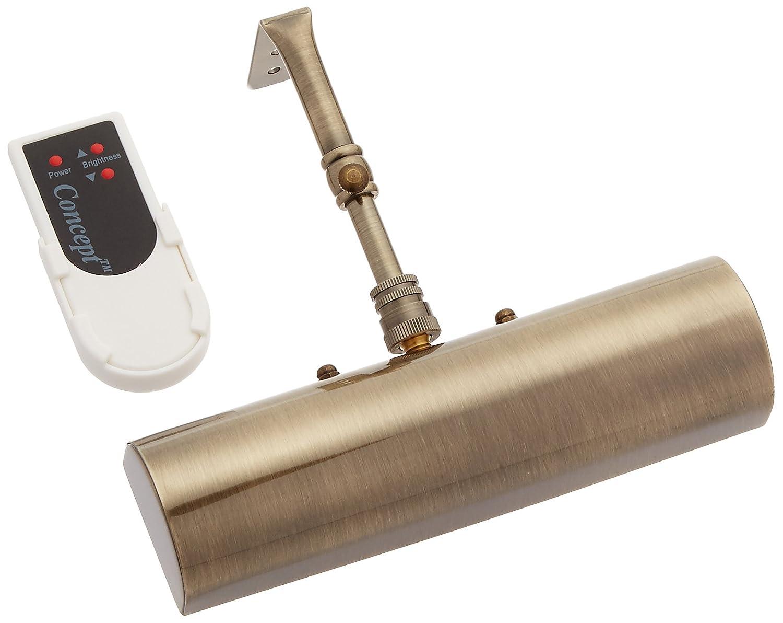 概念照明202lコードレスリモートコントロールLED Pictureライトアンティーク真鍮、スモール B00NVOX3SI 13246