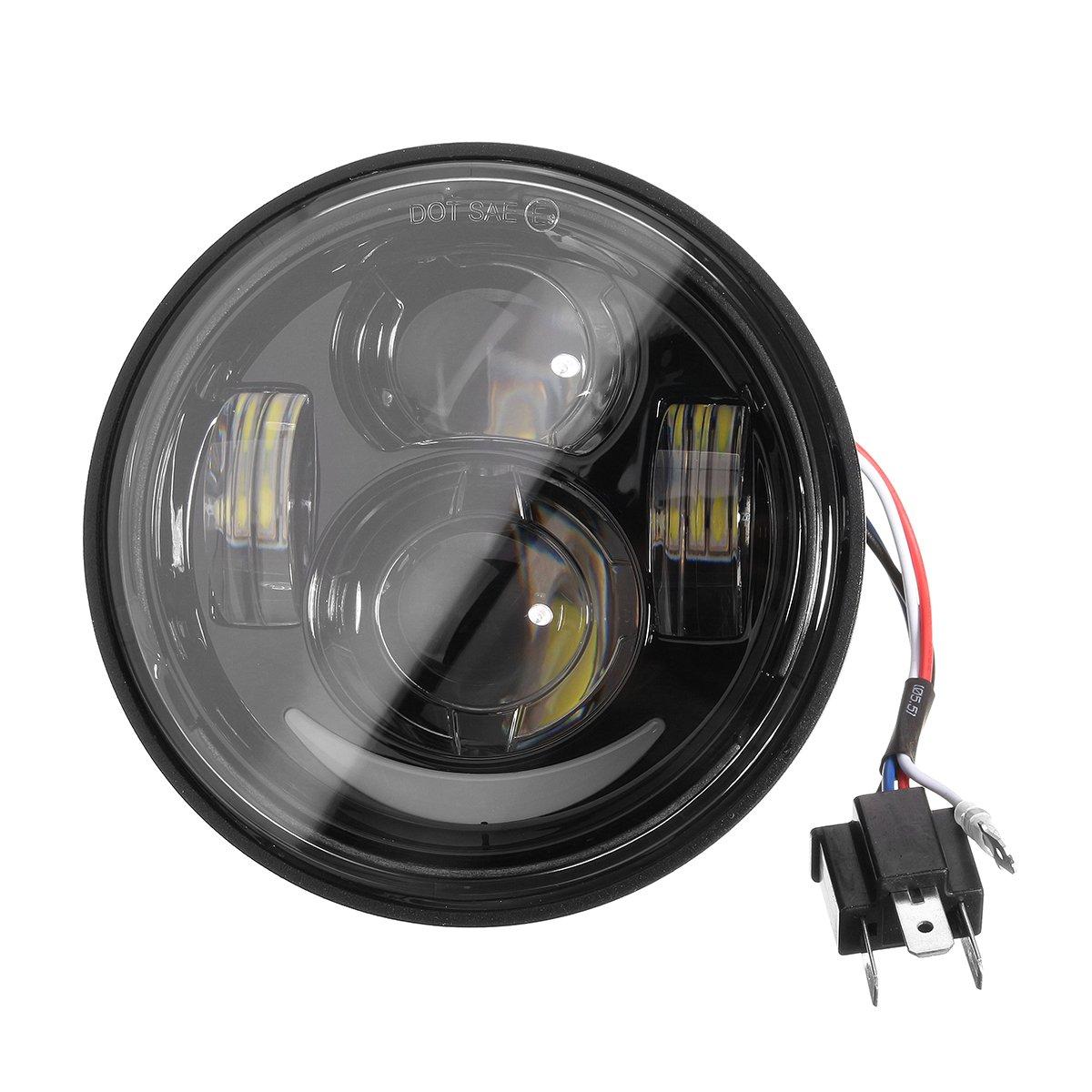 Amazon.com : Motorcycle Lights 4.65inch LED Daymaker HI/LO ... on