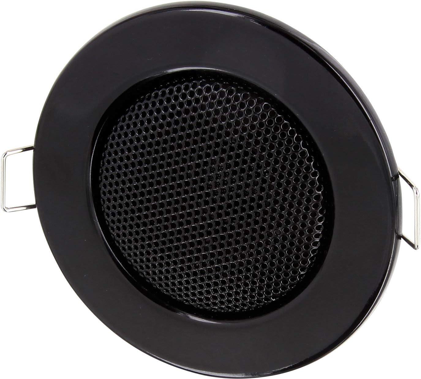 HAVA - Altavoz empotrable (metal, 3 W, diámetro de 80 mm, montaje de 60 mm de diámetro, montaje de sujeción, tecnología de baja impedancia, para pared y techo), diseñ
