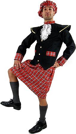 DRESS ME UP - K37/56 Disfraz escocés kilt Braveheart Highlander ...