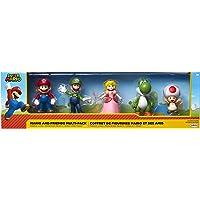 Jakks Super Mario Mario, Luigi, prinses perzik, Yoshi & pad, exclusief 2,5-inch mini-figuur, 5-pack