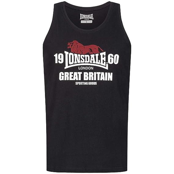 Lonsdale Men Tank Top Turnditch, Größe:XL, Farbe:Black: Amazon.es ...