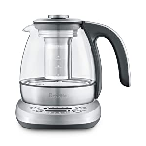 Breville BTM500 Smart Tea Infuser Compact, Brushed Stainless Steel