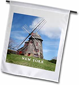 Florene America The Beautiful - Windmill In Famous East Hampton long Island New York - 18 x 27 inch Garden Flag (fl_80771_2)