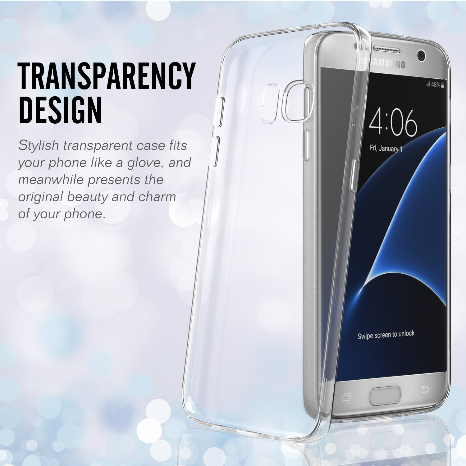 Amazon Galaxy S7 Case MoKo [3 PACK] Premium Ultra Thin Back Cover with Clear Panel TPU Bumper for Samsung Galaxy S7 5 1 Inch Smartphone 2016