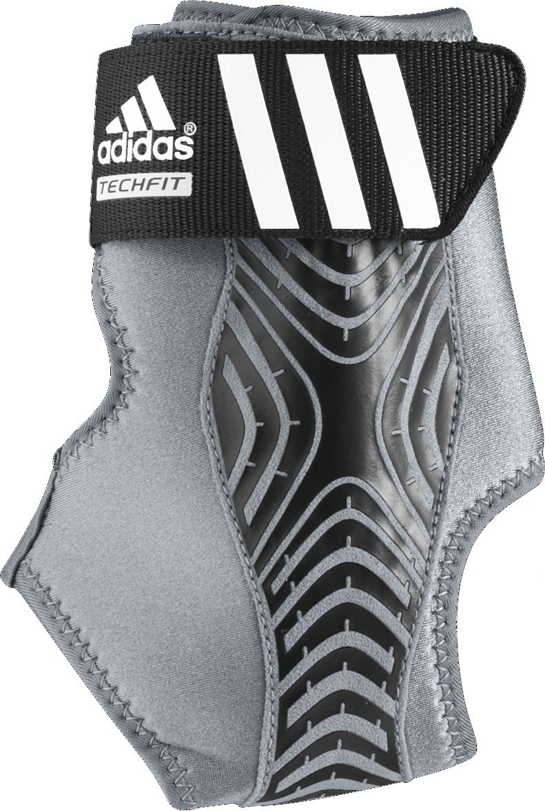 adidas Adizero Speedwrap Ankle Brace, Medium Lead/Black, Large