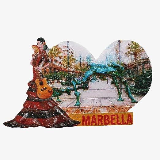 MUYU Magnet Marbella Andalucía España 3D imán de Nevera de Viaje ...
