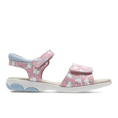 6370d3f252b3d Clarks Nibbles Hop Girls Infant Sandals 8.5 F Pink Combi: Amazon.co ...
