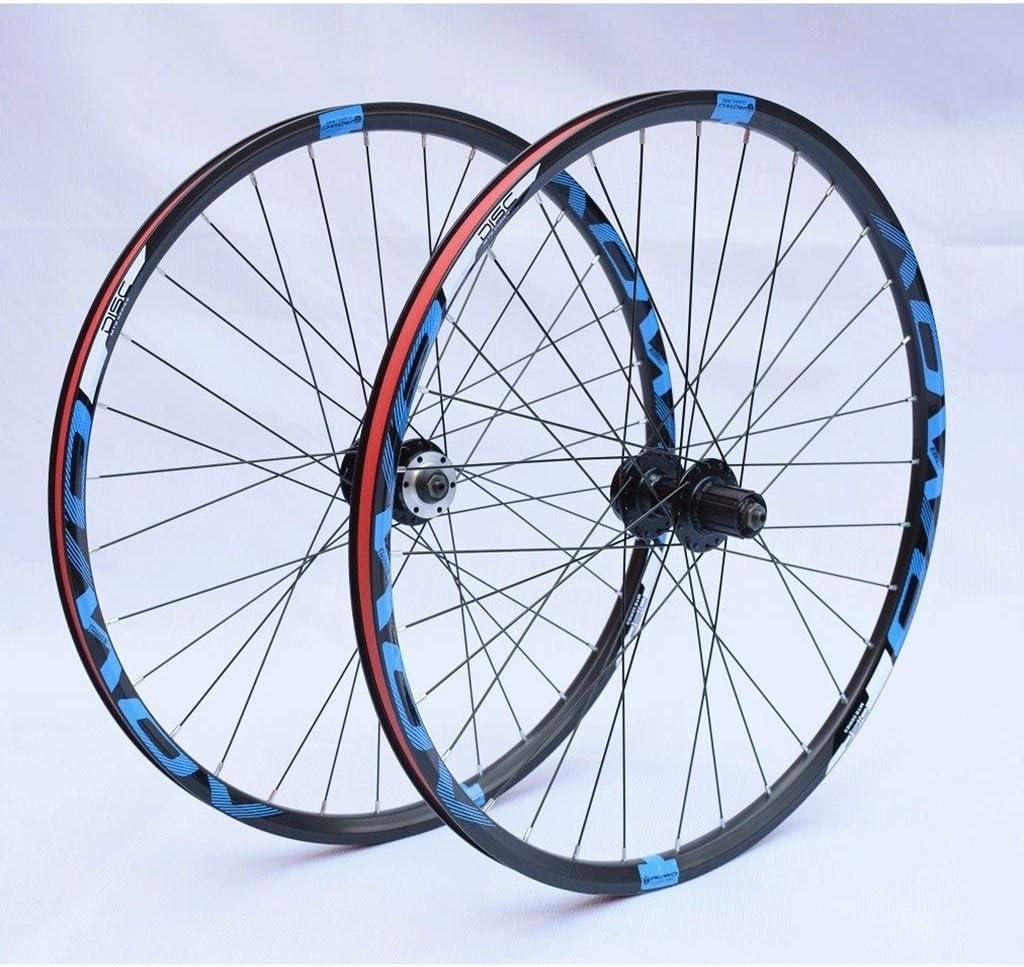 LHHL Bicycle Front /& Rear Wheels 26//27.5//29 CNC Double Walled Alloy Rim MTB Bike Wheel Set 32H Disc Brake QR 8-10 Speed Cassette Hubs Ball Bearing