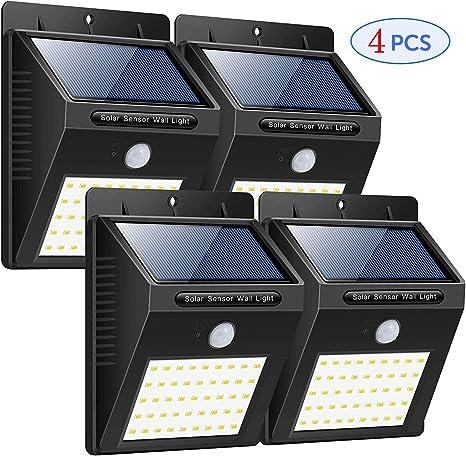 XINYUKEJI-Luz solar al aire libre, Sensor de movimiento Seguridad Luces de energía solar 40 LED ...