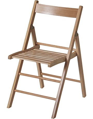 Eurosilla Bas - Silla plegable de madera para uso interior, 76 x 44 x 52