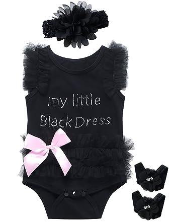 476ae62c7 Amazon.com  Little Fancy 3 Pieces Baby Girls  Lace Tutu Dress ...