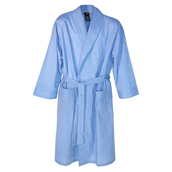 Sue&Joe Mens Cotton Dressing Gown Long Sleeve Belted Check Housecoat ...