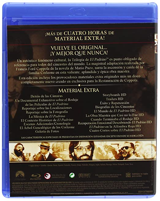 Amazon.com: El Padrino (Edición 40 Aniversario) [Blu-ray ...