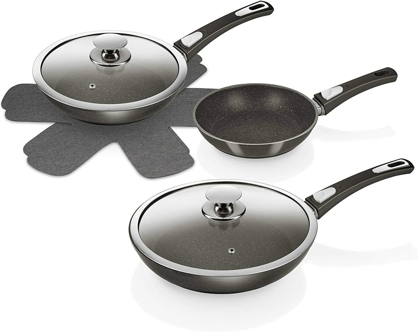 Genius cerafit 4 x fleece inserts for Pan Frying Pan