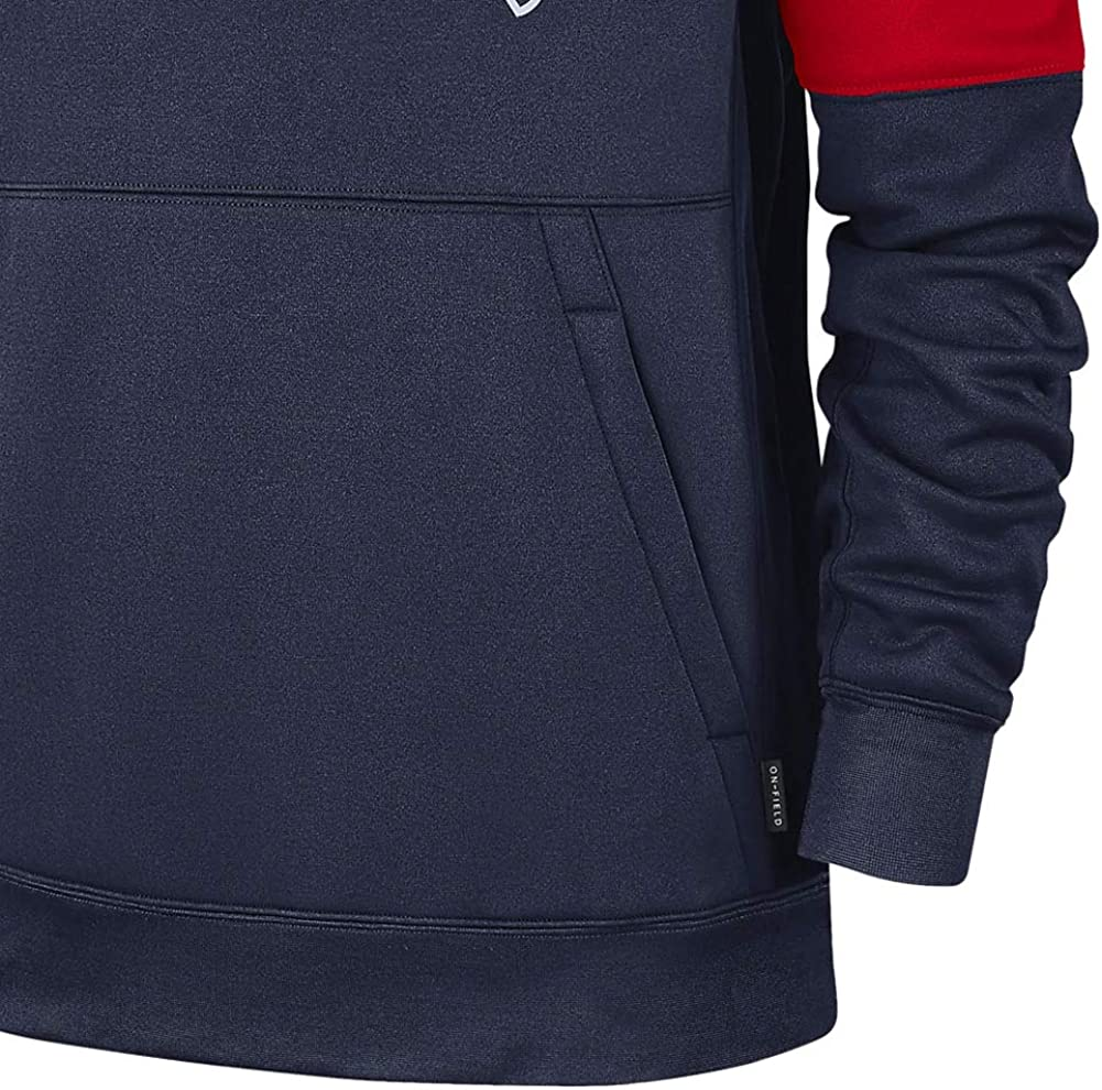 Large Navy Nike New England Patriots Mens Therma Pullover Hoodie