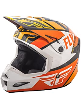 Casco Mx Fly Racing 2018 Elite Guild Anaranjado-Blanco-Negro (L , Anaranjado