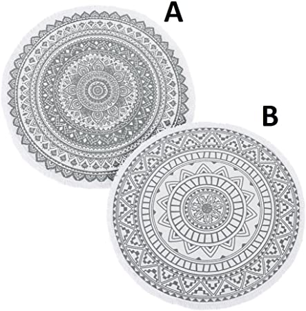 Alfombra mandala zen redonda algodon 90x90 cm (2 modelos A/B ...