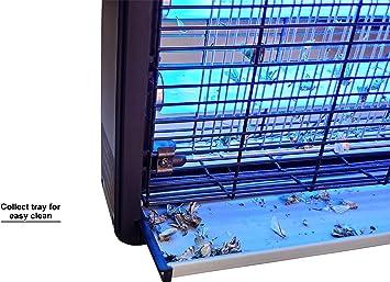Matamoscas Electrico, Lampara Antimosquitos Electrico Luz Ultravioleta 20W Atrapa Insectos Eliminador, Ultra Delgado, Protege 1.000 sq.ft. [EU Plug]: Amazon.es: Jardín