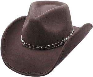 Men s Wool Cowboy Hat Silverado Shapeable Western Felt Hats by Silver Canyon da82096f5952